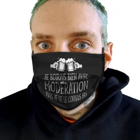 """Masque en tissu """"Je boirais..."""