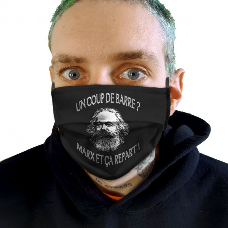 """Masque en tissu """"Marx et ça..."""