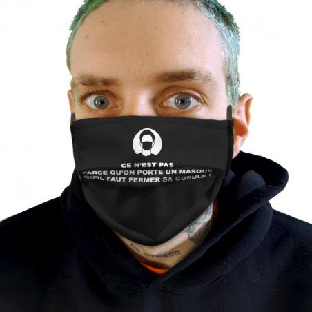 """Masque en tissu """"Ce n'est..."""