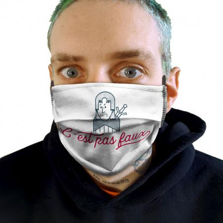 """Masque en tissu """"C'est pas..."""