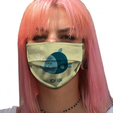 """Masque en tissu """"M'en fish..."""