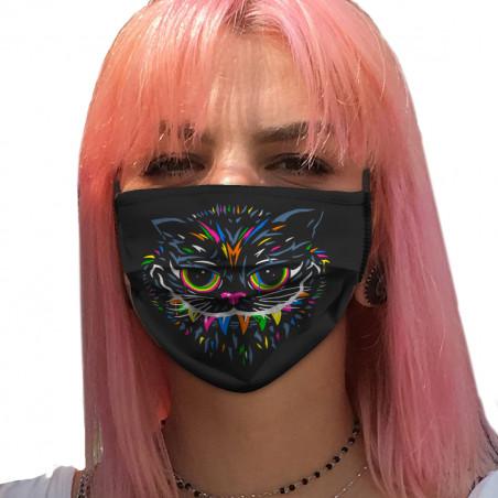 """Masque en tissu """"Chat du..."""
