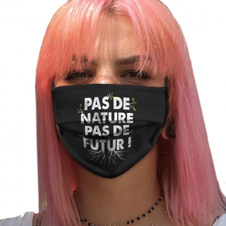 """Masque en tissu """"Pas de..."""
