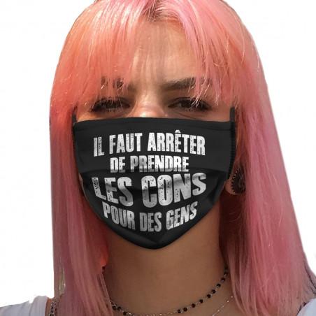 "Masque en tissu ""Il faut..."