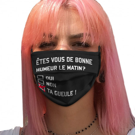 """Masque en tissu """"Etes-vous..."""