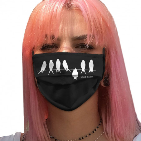 "Masque en tissu ""Stay Rebel"""