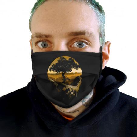 """Masque en tissu """"Aide la..."""