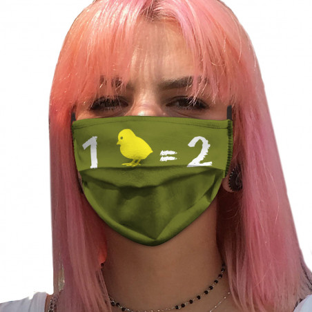 "Masque en tissu ""1 poussin..."