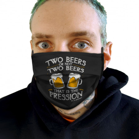 "Masque en tissu ""Two Beers..."
