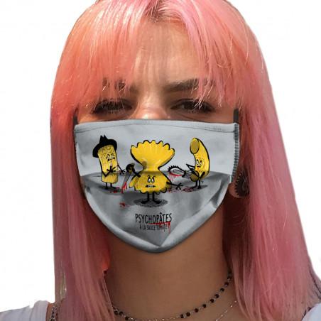 """Masque en tissu """"Psychopâtes"""""""