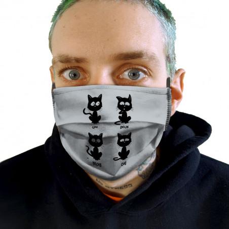 """Masque en tissu """"Un deux..."""