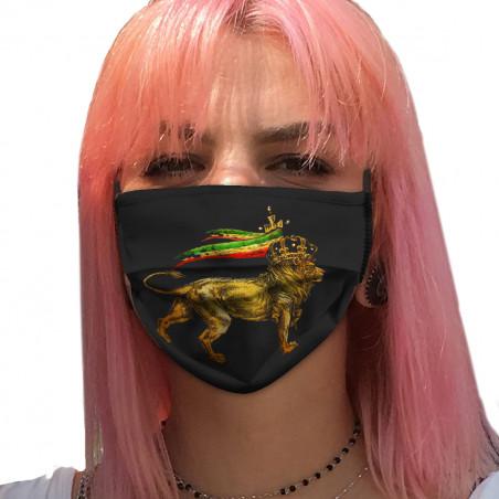 """Masque en tissu """"Rasta Lion"""""""