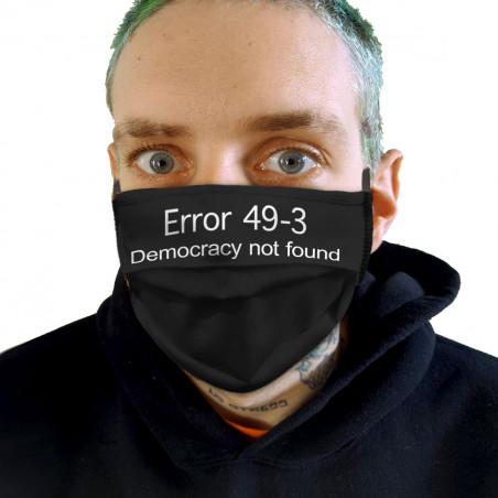 """Masque en tissu """"Error 49-3"""""""