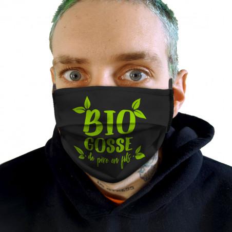 """Masque en tissu """"Bio gosse..."""