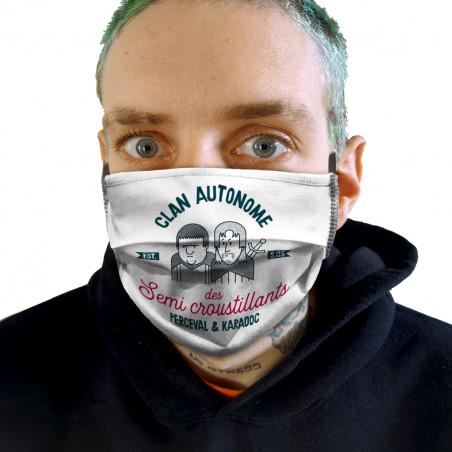 """Masque en tissu """"Perceval &..."""
