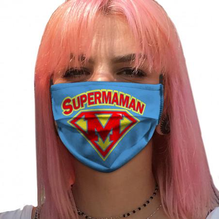 """Masque en tissu """"Super Maman"""""""