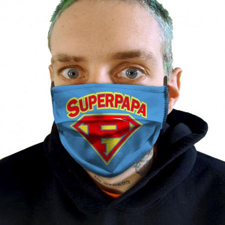 """Masque en tissu """"Super Papa"""""""
