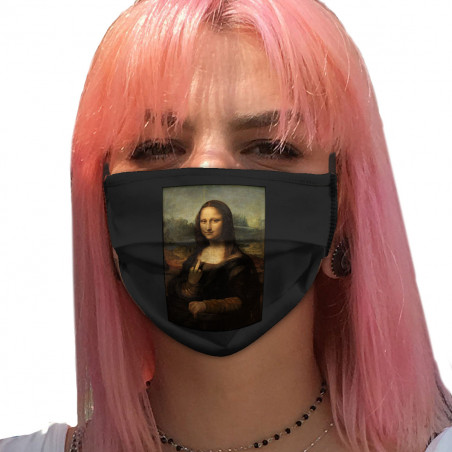 "Masque en tissu ""Mona Lisa..."