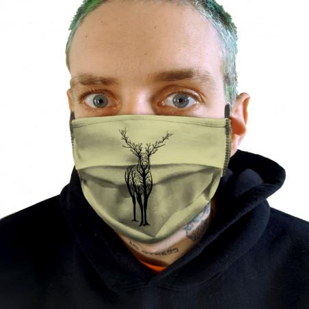 """Masque en tissu """"Deer Trees"""""""