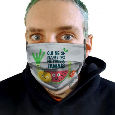 "Masque en tissu ""Qui ne..."