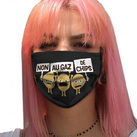 "Masque en tissu ""Non au gaz..."
