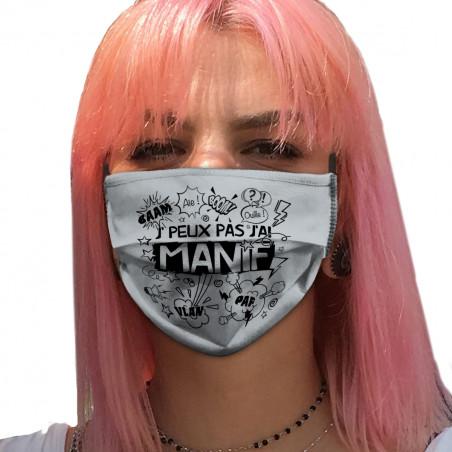 """Masque en tissu """"J'peux pas..."""