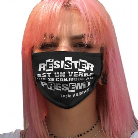 """Masque en tissu """"Résister..."""