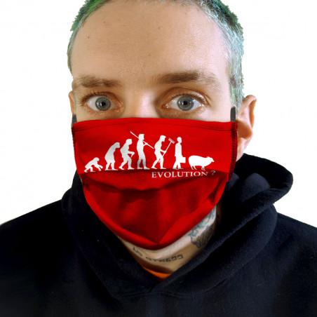 """Masque en tissu """"Evolution..."""