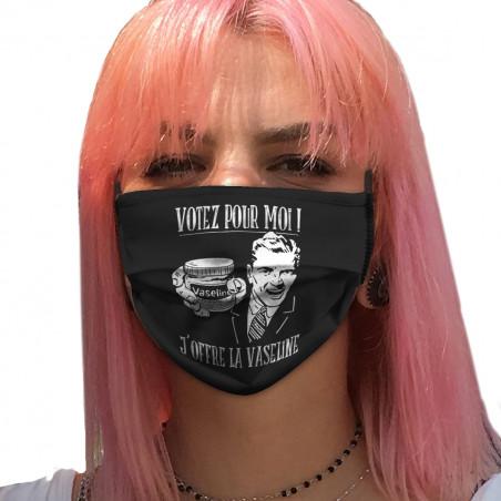 """Masque en tissu """"Votez pour..."""