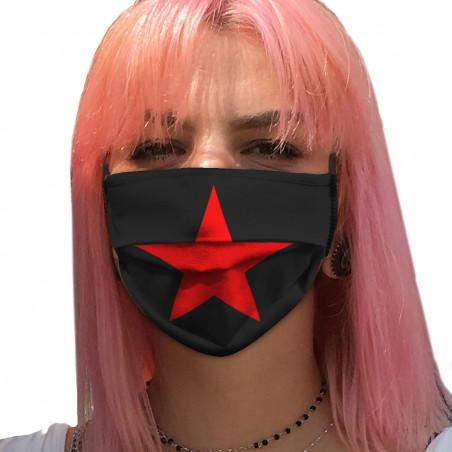 "Masque en tissu ""Etoile Rouge"""