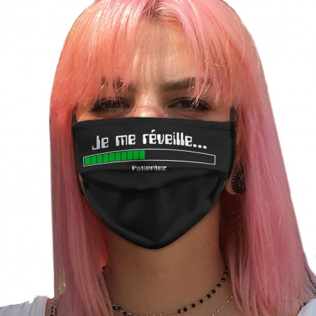 """Masque en tissu """"Je me..."""