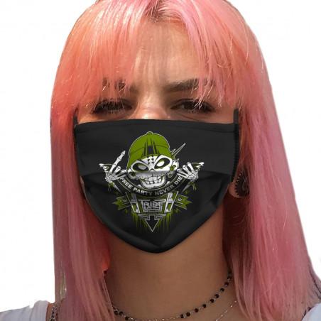 """Masque en tissu """"Free Party..."""