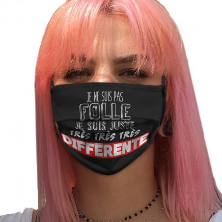 """Masque en tissu """"Je ne suis..."""