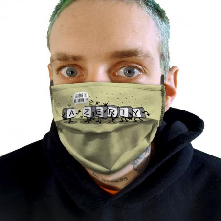 """Masque en tissu """"Azerty"""""""