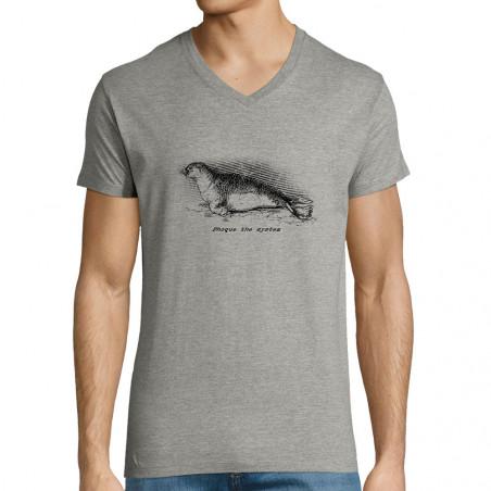"T-shirt homme col V ""Phoque..."