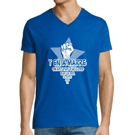 """T-shirt homme col V """"Y en a..."""