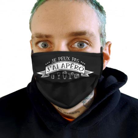 """Masque en tissu """"J'ai apéro"""""""