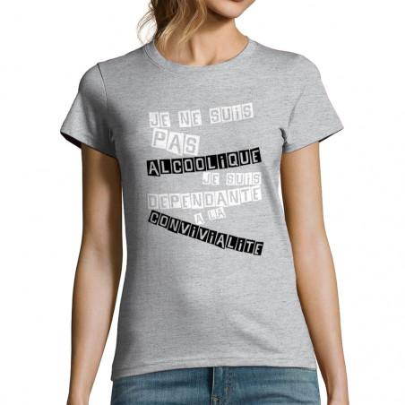 """T-shirt femme """"Convivialité..."""