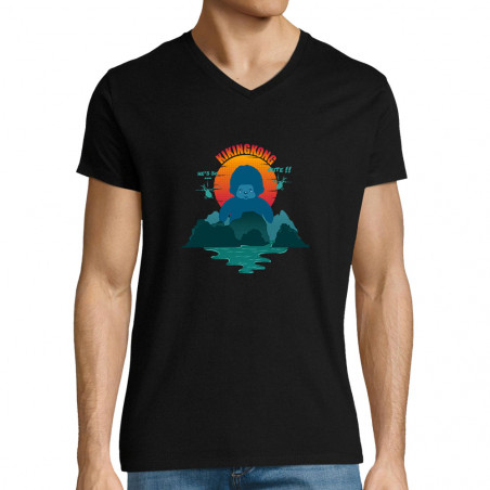 "T-shirt homme col V ""Kiking..."