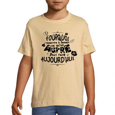 """Tee-shirt enfant """"Ce qu'un..."""