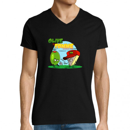 """T-shirt homme col V """"Olive..."""