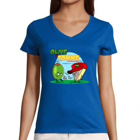 """T-shirt femme col V """"Olive..."""
