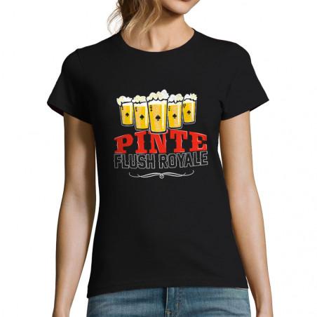 "T-shirt femme ""Pinte Flush..."