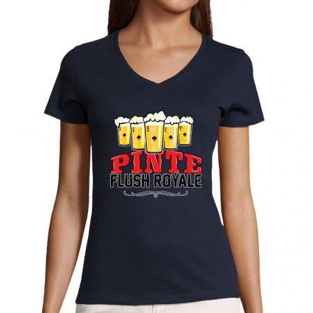 """T-shirt femme col V """"Pinte..."""
