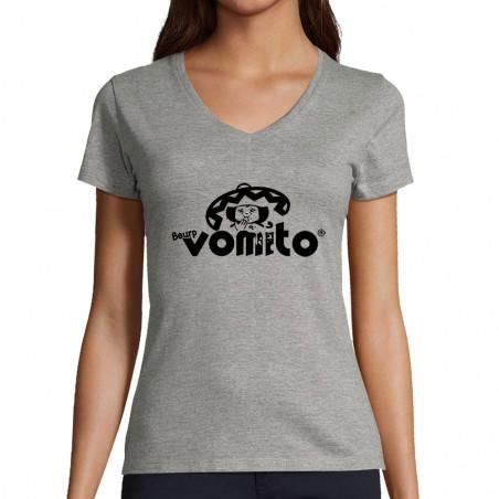 """T-shirt femme col V """"Vomito"""""""