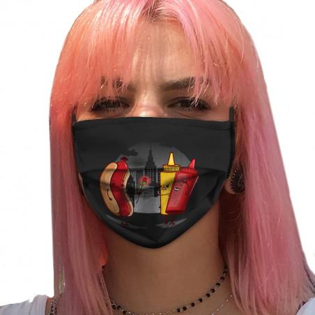 "Masque en tissu ""NYC Romance"""