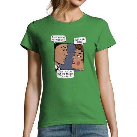 """T-shirt femme """"Juste un doigt"""""""