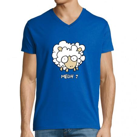 """T-shirt homme col V """"Meuh"""""""