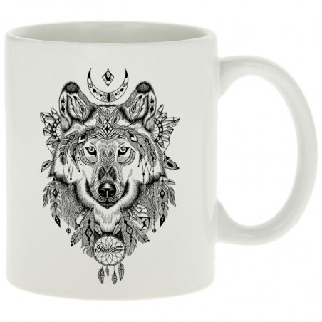"Mug ""Bad River - Indian Wolf"""