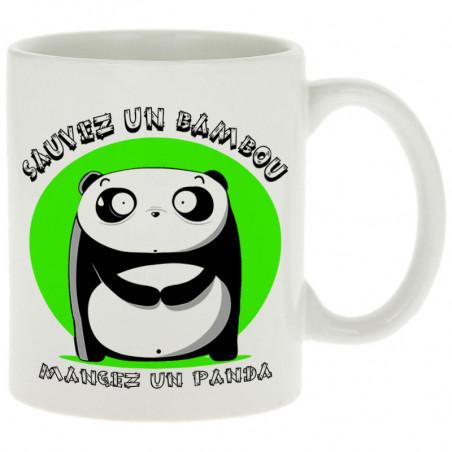 """Mug """"Sauvez un bambou"""""""